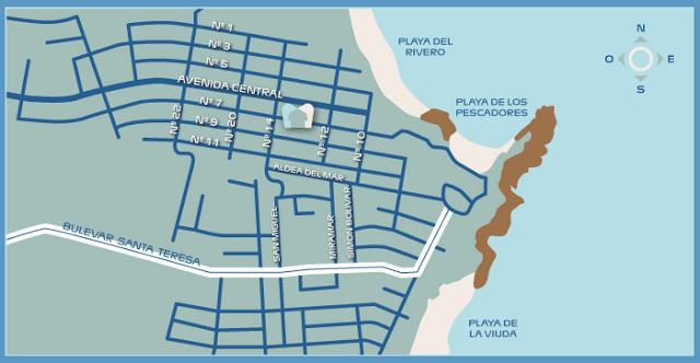 Mapa Pueblo Rivero, Punta del Diablo
