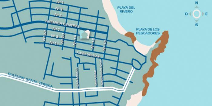 mapa punta del diablo